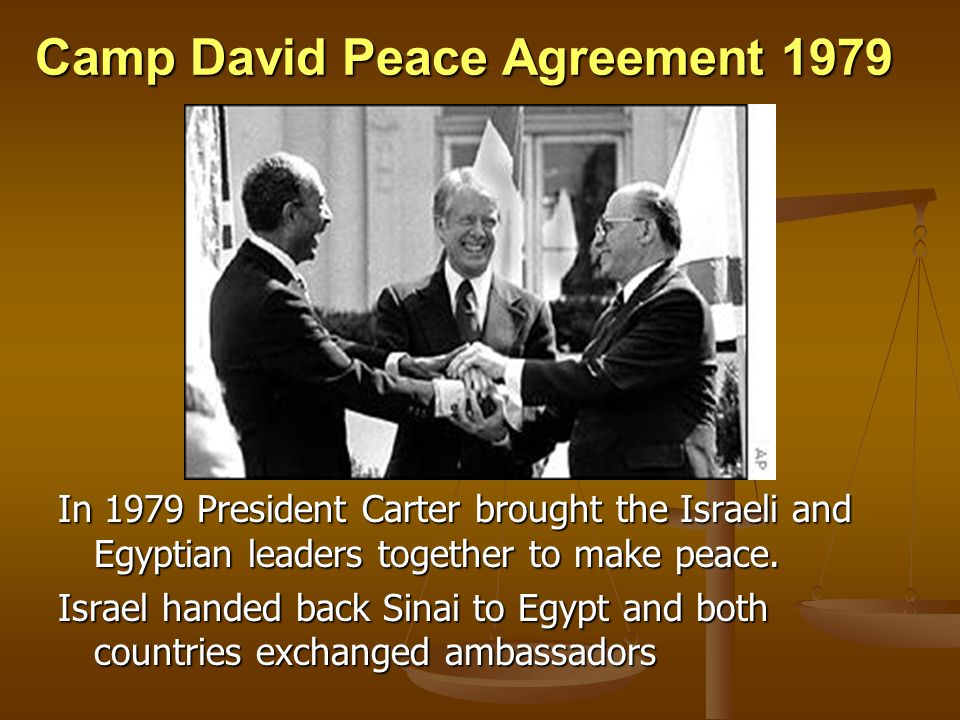 Camp David Peace Agreement 1979