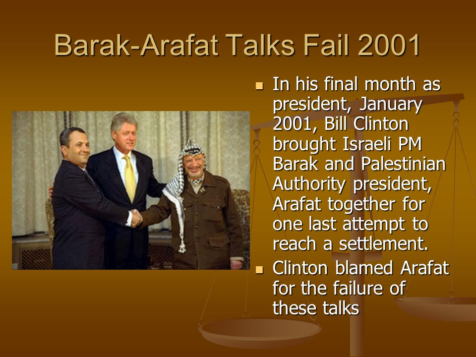 Barak-Arafat Talks Fail 2001