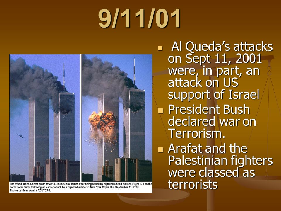 9/11/01 President Bush declared war on Terrorism.