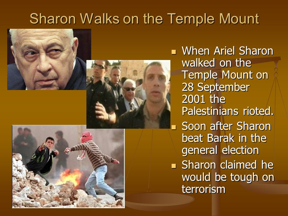 Sharon Walks on the Temple Mount