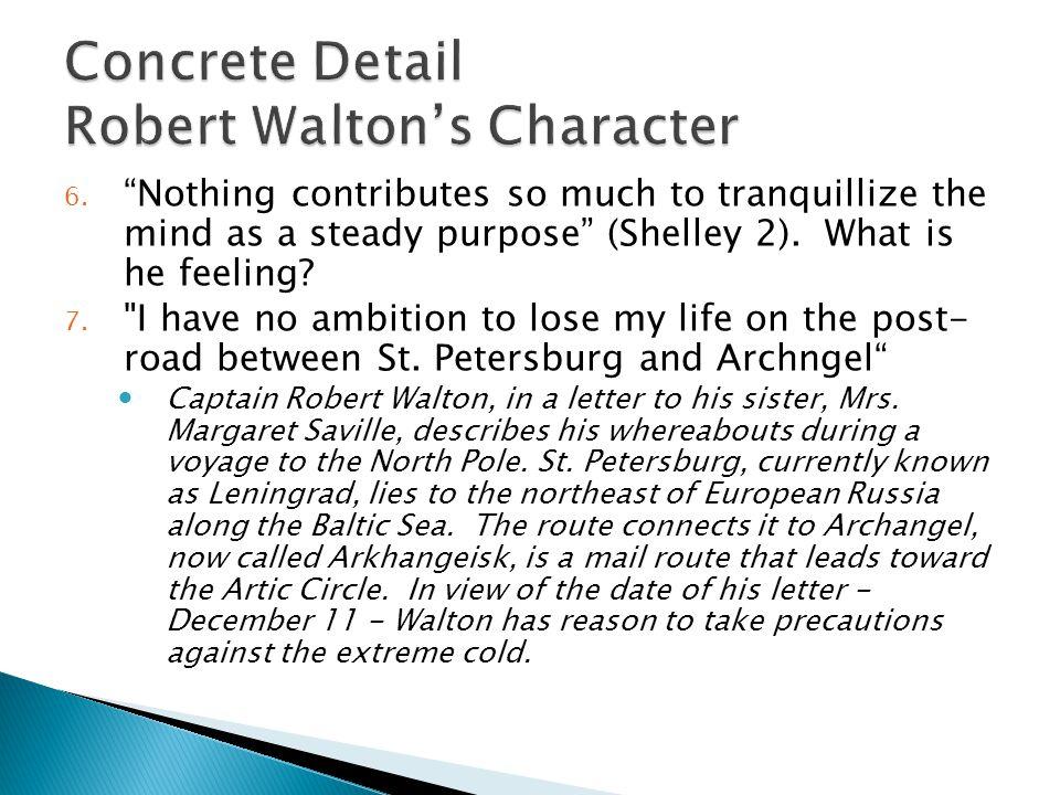 Concrete Detail Robert Walton's Character
