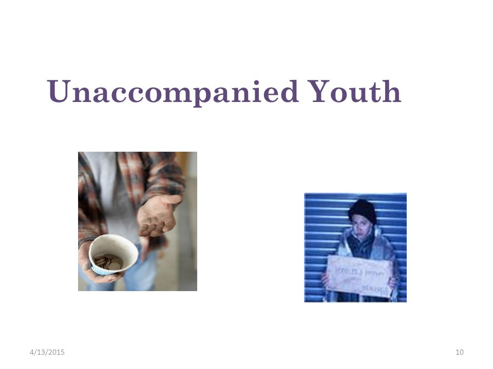 Unaccompanied Youth 4/11/2017