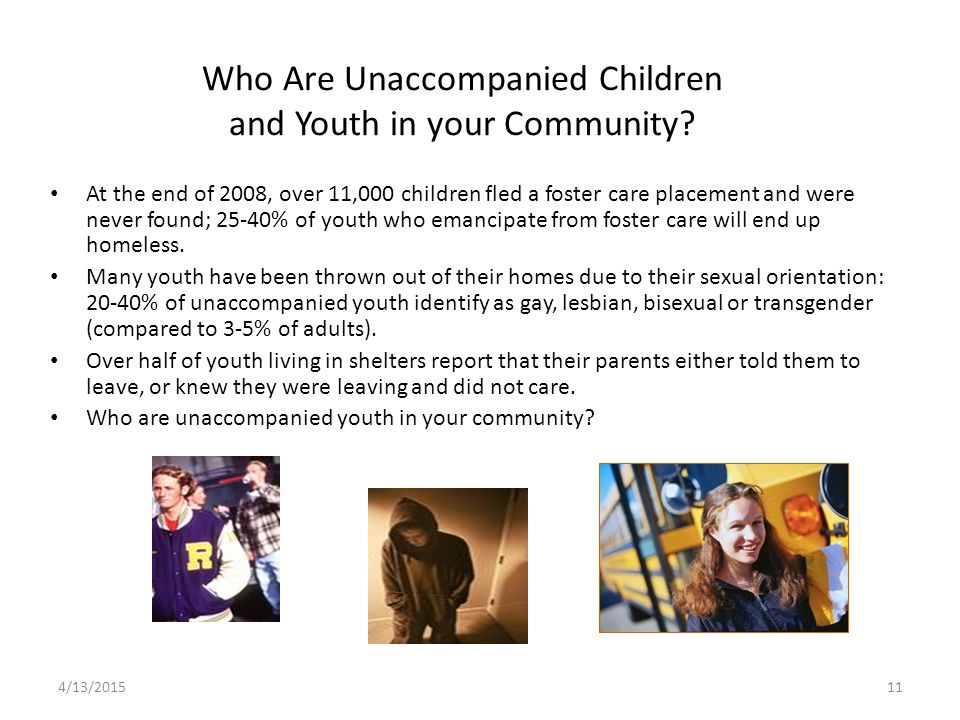 Who Are Unaccompanied Children and Youth in your Community