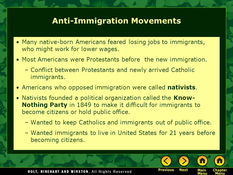Anti-Immigration Movements