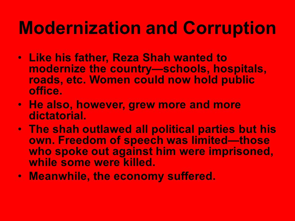 Modernization and Corruption