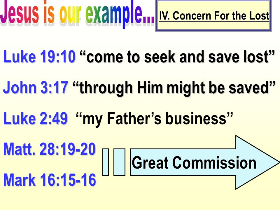 Luke 19:10 come to seek and save lost