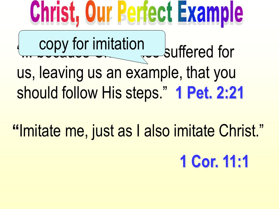 Christ, Our Perfect Example