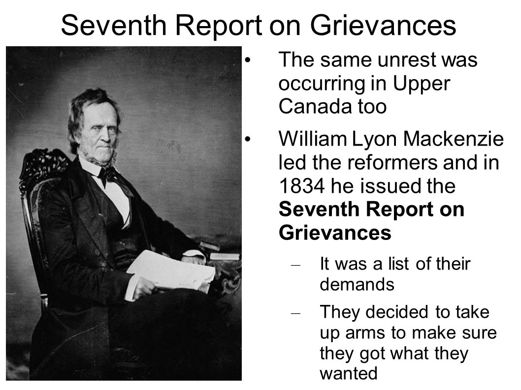 Seventh Report on Grievances