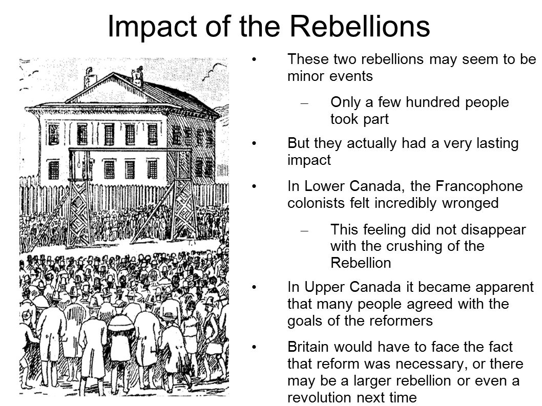 Impact of the Rebellions