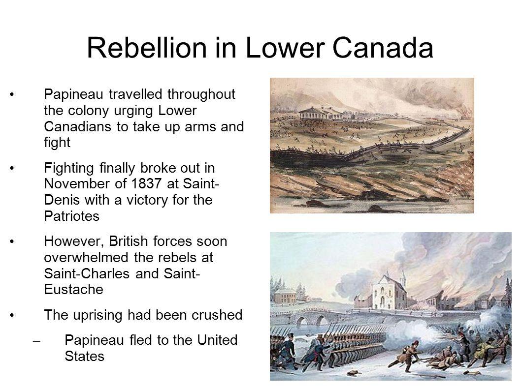 Rebellion in Lower Canada