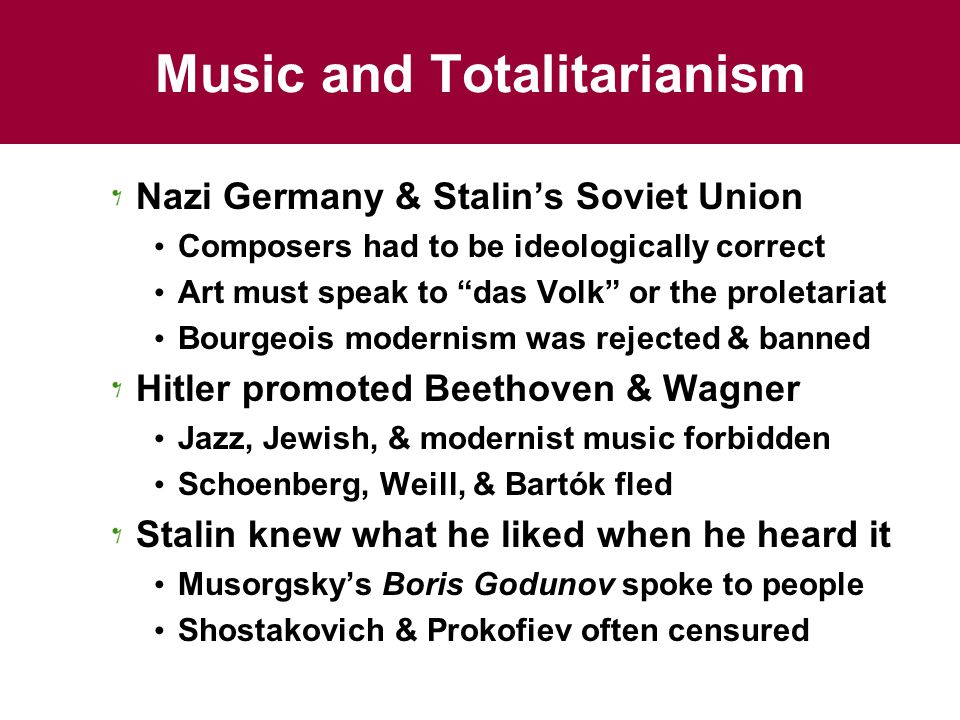 Music and Totalitarianism