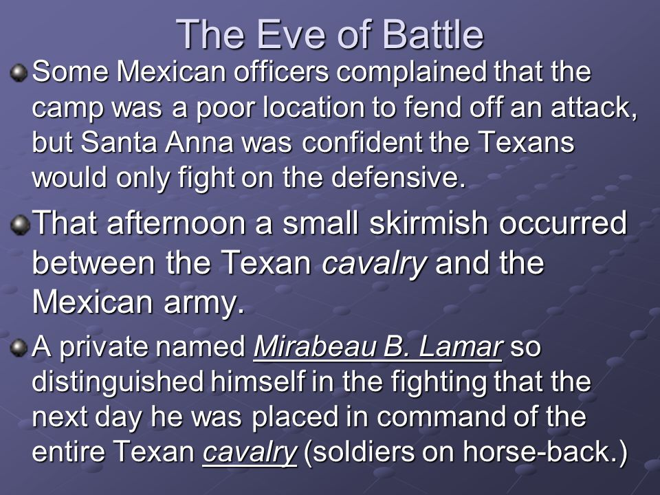 The Eve of Battle