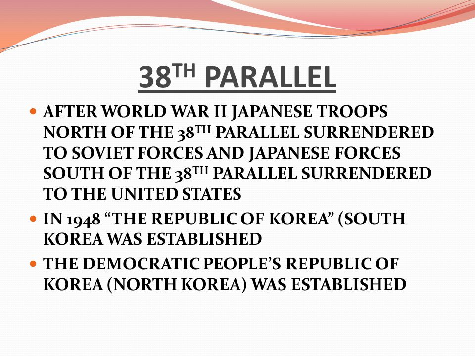 38TH PARALLEL
