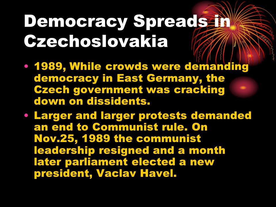 Democracy Spreads in Czechoslovakia