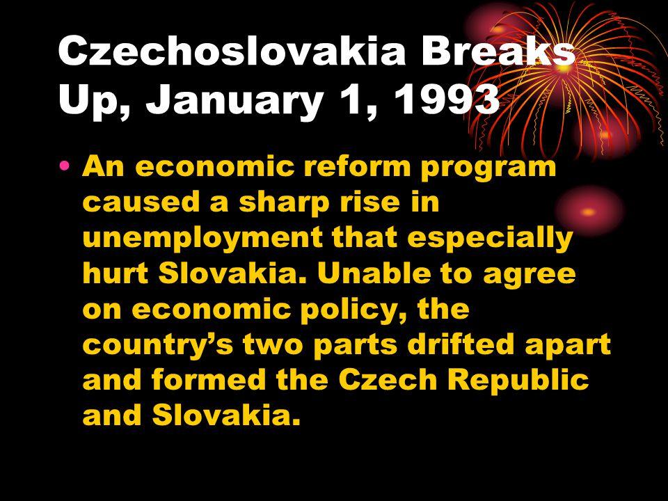 Czechoslovakia Breaks Up, January 1, 1993