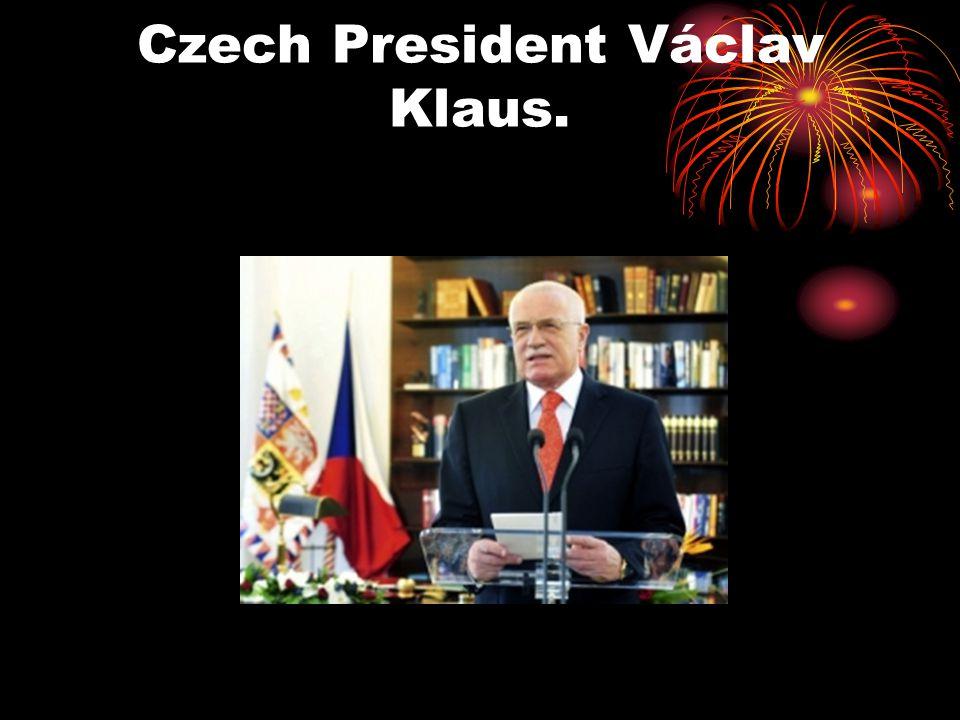 Czech President Václav Klaus.