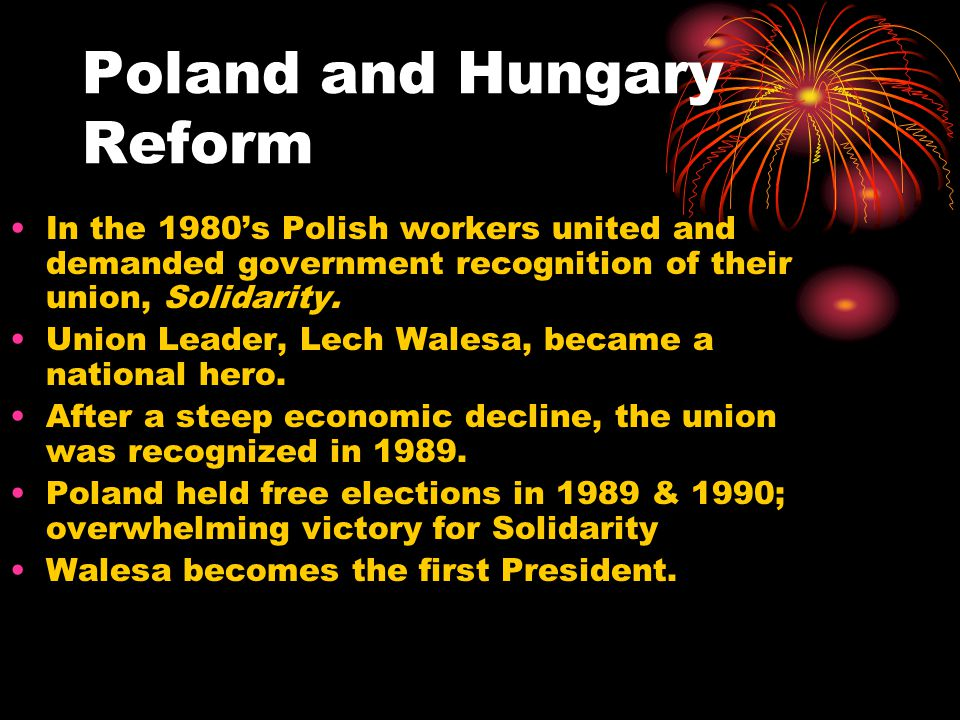 Poland and Hungary Reform