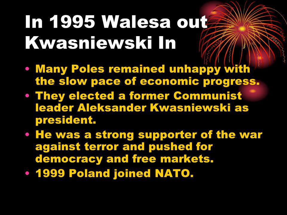 In 1995 Walesa out Kwasniewski In