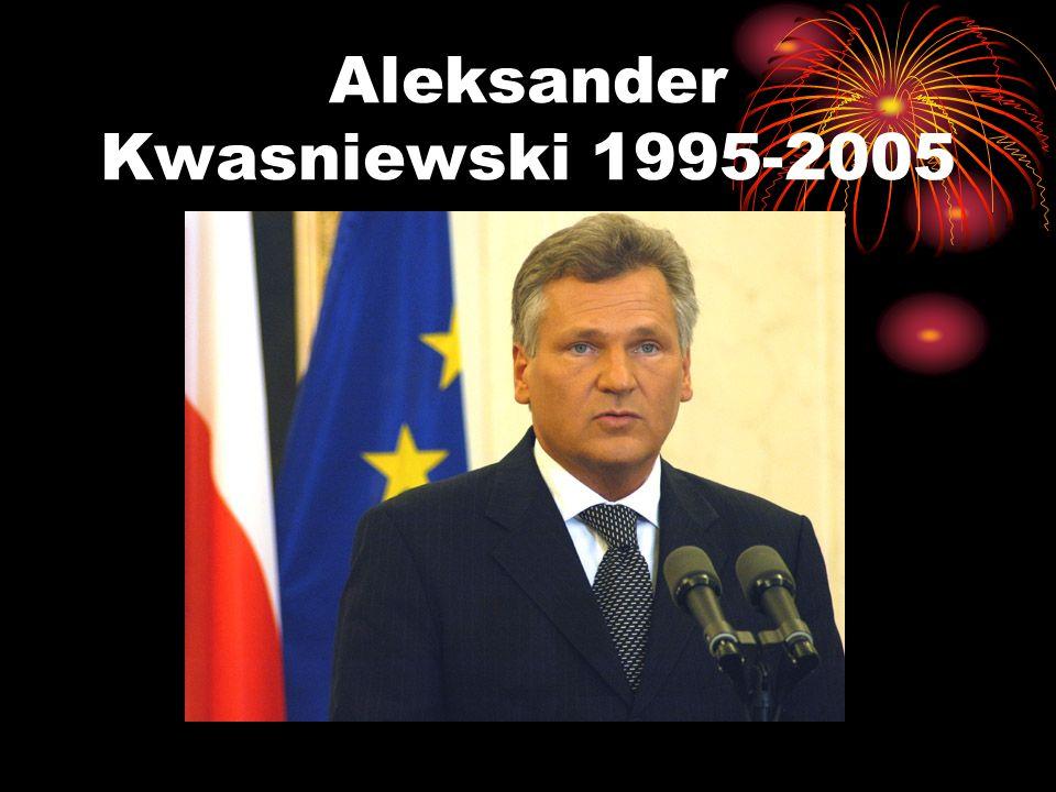 Aleksander Kwasniewski 1995-2005
