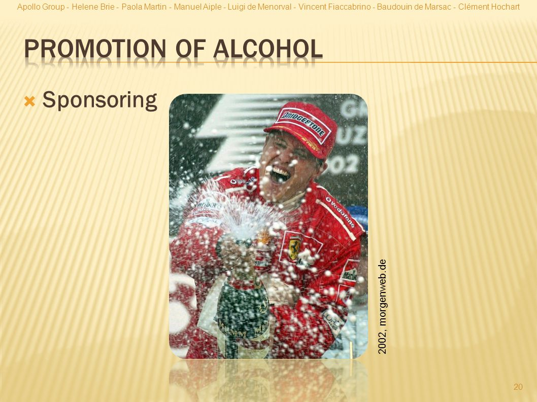 Promotion of Alcohol Sponsoring 2002, morgenweb.de