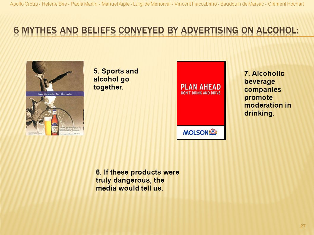 6 mythes and beliefs conveyed by advertising on alcohol: