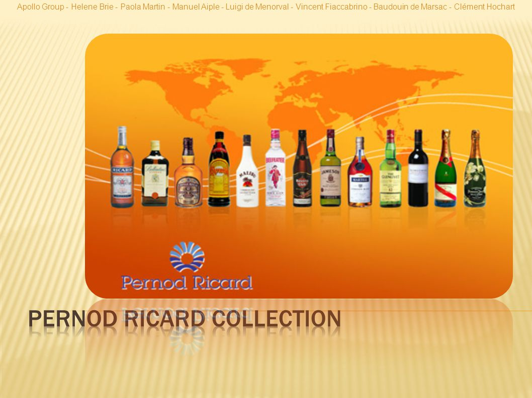 Pernod Ricard collection