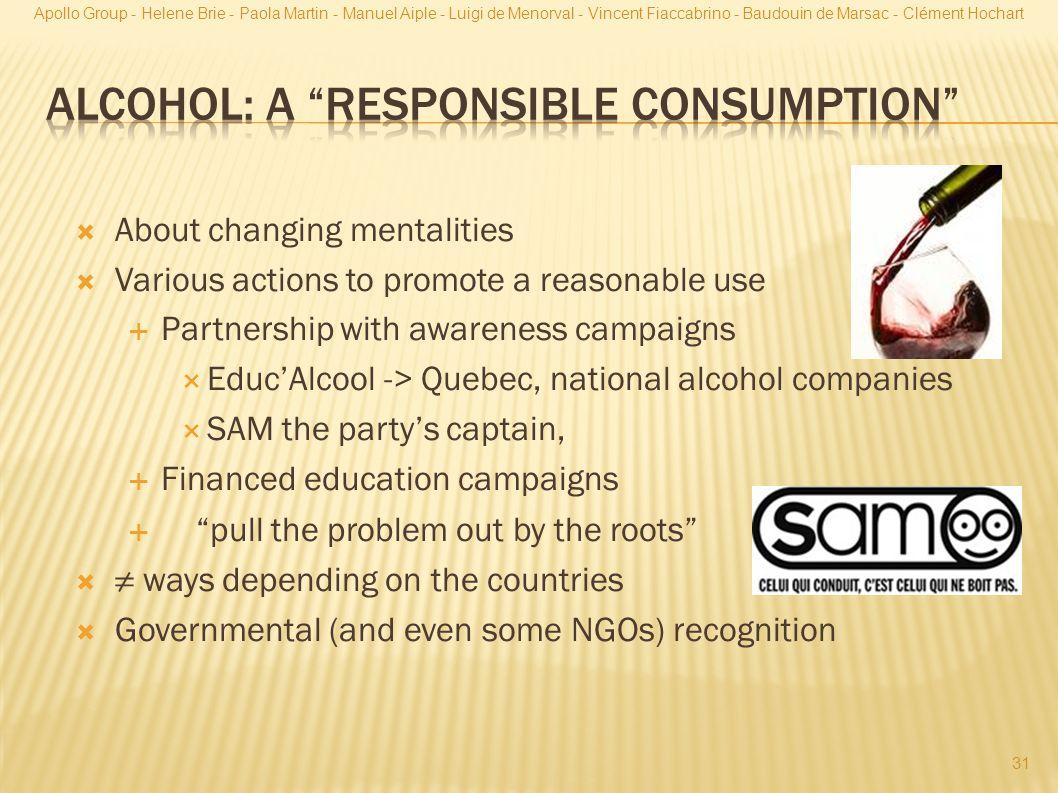 Alcohol: a responsible consumption