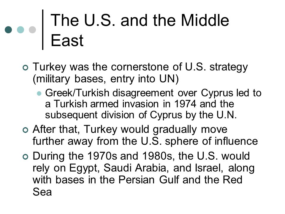 The U.S. and the Middle East