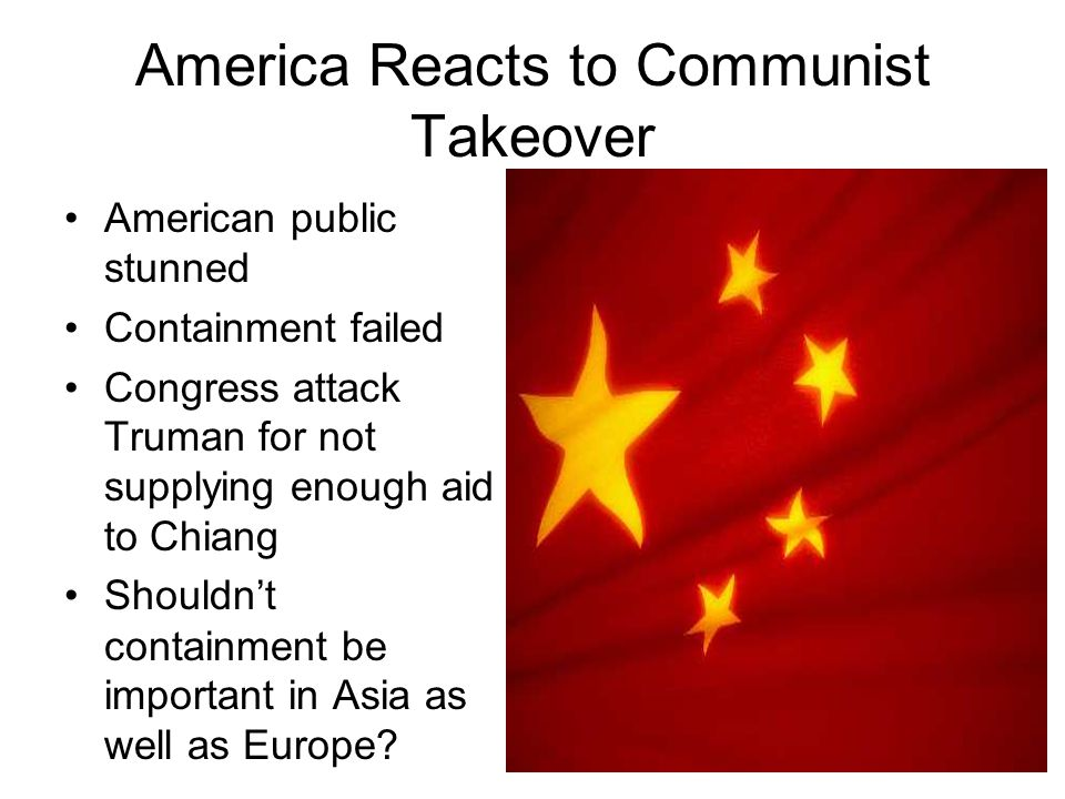 the fear of communist takeover in america The communist takeover of america an american communist cell was told to eliminate all good sculpture from moved with fear.