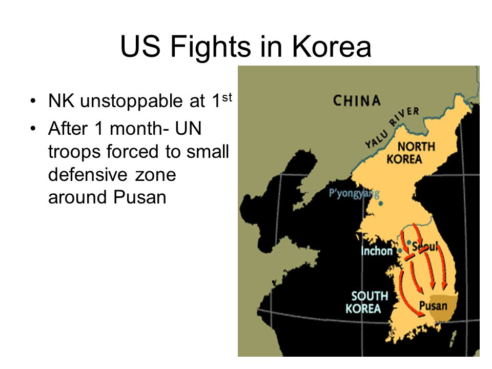 US Fights in Korea NK unstoppable at 1st
