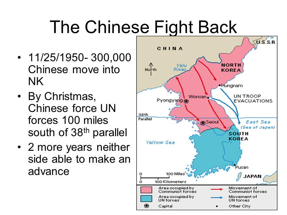 The Chinese Fight Back 11/25/1950- 300,000 Chinese move into NK