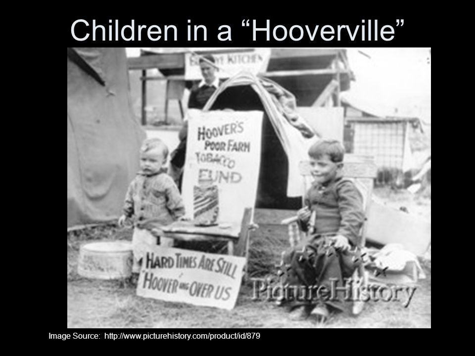 Children in a Hooverville