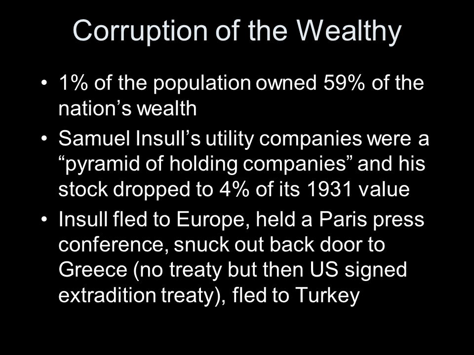 Corruption of the Wealthy