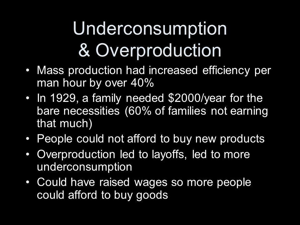 Underconsumption & Overproduction