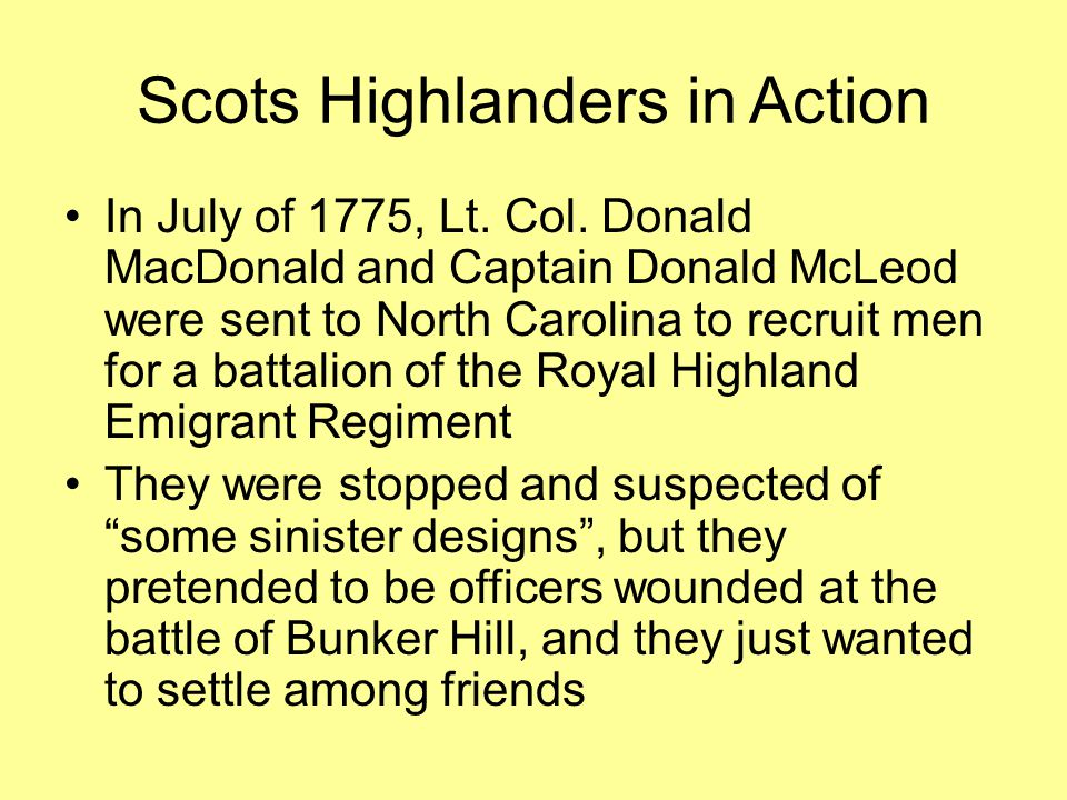 Scots Highlanders in Action