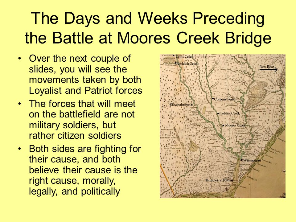 The Days and Weeks Preceding the Battle at Moores Creek Bridge