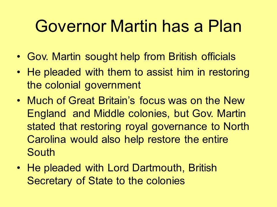 Governor Martin has a Plan