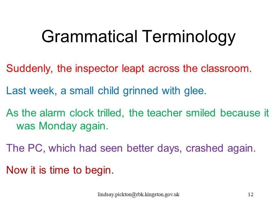 Grammatical Terminology
