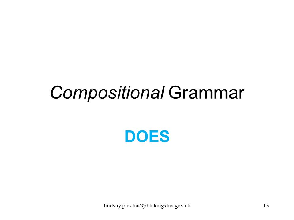 Compositional Grammar