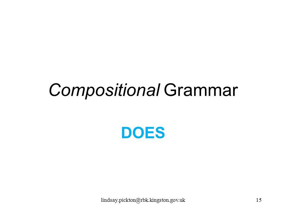Compositional Grammar