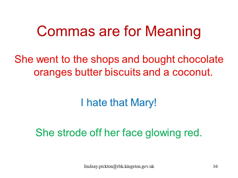 Commas are for Meaning