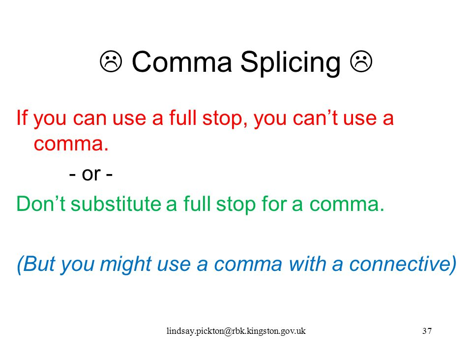  Comma Splicing 