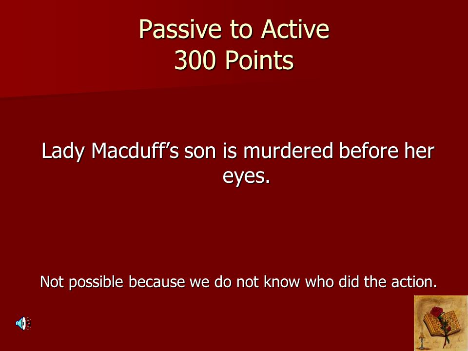 Passive to Active 300 Points