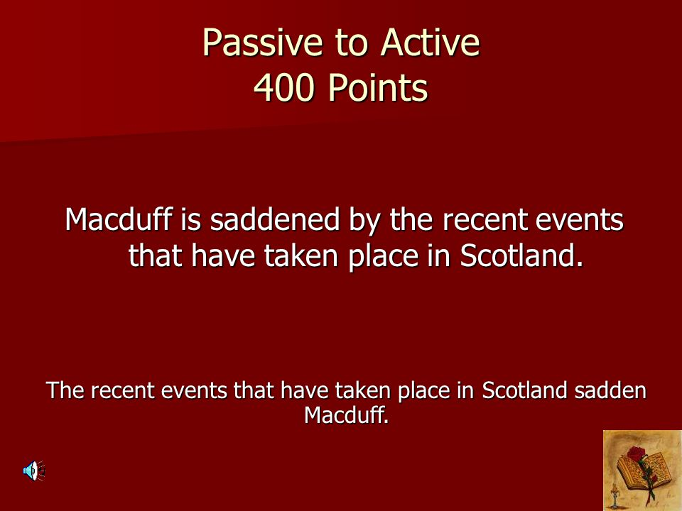 Passive to Active 400 Points