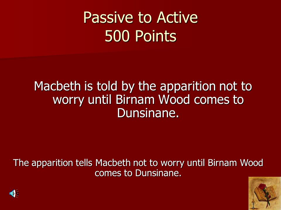 Passive to Active 500 Points