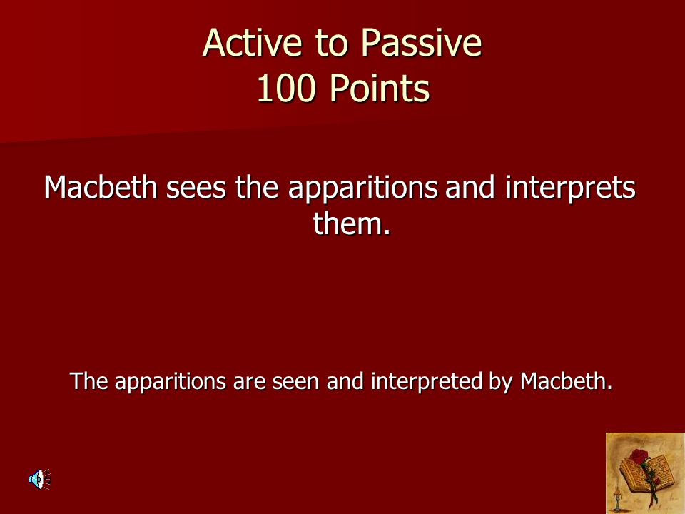Active to Passive 100 Points
