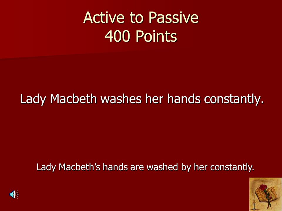 Active to Passive 400 Points