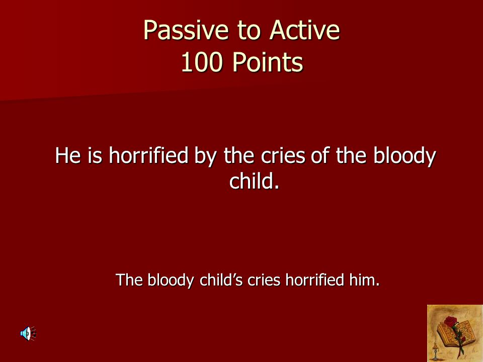 Passive to Active 100 Points