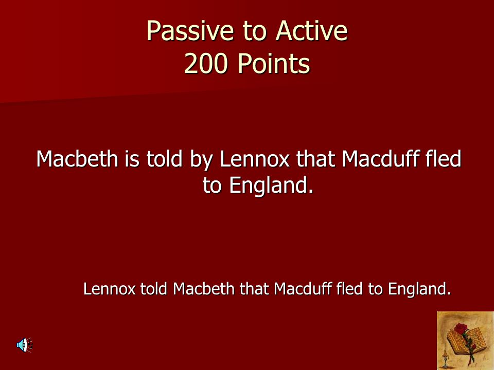 Passive to Active 200 Points