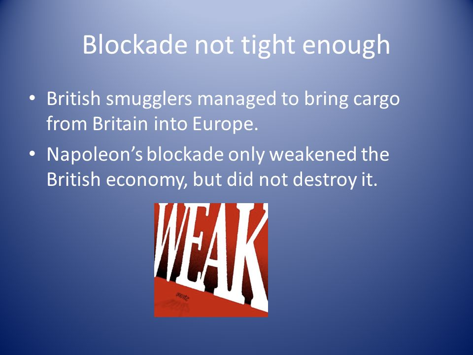Blockade not tight enough